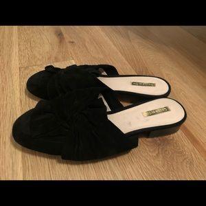 Louise et cie mules leather suede black lo…